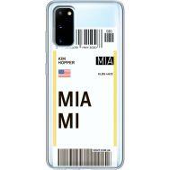Силиконовый чехол BoxFace Samsung G980 Galaxy S20 Ticket Miami (38870-cc81)