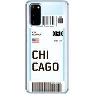 Силиконовый чехол BoxFace Samsung G980 Galaxy S20 Ticket Chicago (38870-cc82)