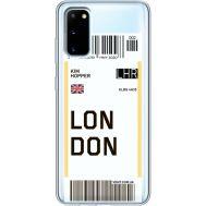 Силиконовый чехол BoxFace Samsung G980 Galaxy S20 Ticket London (38870-cc83)