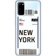 Силиконовый чехол BoxFace Samsung G980 Galaxy S20 Ticket New York (38870-cc84)