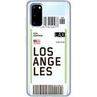 Силиконовый чехол BoxFace Samsung G980 Galaxy S20 Ticket Los Angeles (38870-cc85)