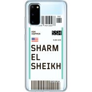 Силиконовый чехол BoxFace Samsung G980 Galaxy S20 Ticket Sharmel Sheikh (38870-cc90)