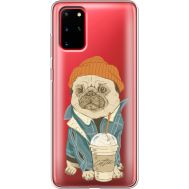 Силиконовый чехол BoxFace Samsung G985 Galaxy S20 Plus Dog Coffeeman (38875-cc70)