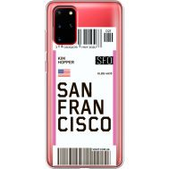 Силиконовый чехол BoxFace Samsung G985 Galaxy S20 Plus Ticket San Francisco (38875-cc79)