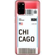 Силиконовый чехол BoxFace Samsung G985 Galaxy S20 Plus Ticket Chicago (38875-cc82)