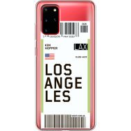 Силиконовый чехол BoxFace Samsung G985 Galaxy S20 Plus Ticket Los Angeles (38875-cc85)
