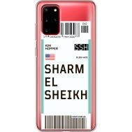Силиконовый чехол BoxFace Samsung G985 Galaxy S20 Plus Ticket Sharmel Sheikh (38875-cc90)