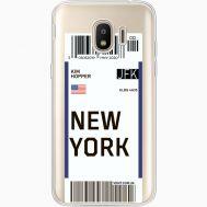 Силиконовый чехол BoxFace Samsung J250 Galaxy J2 (2018) Ticket New York (35055-cc84)