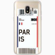 Силиконовый чехол BoxFace Samsung J250 Galaxy J2 (2018) Ticket Paris (35055-cc86)