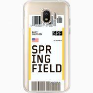 Силиконовый чехол BoxFace Samsung J250 Galaxy J2 (2018) Ticket Springfield (35055-cc93)