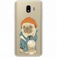Силиконовый чехол BoxFace Samsung J400 Galaxy J4 2018 Dog Coffeeman (35018-cc70)