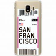 Силиконовый чехол BoxFace Samsung J400 Galaxy J4 2018 Ticket San Francisco (35018-cc79)