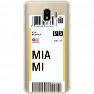 Силиконовый чехол BoxFace Samsung J400 Galaxy J4 2018 Ticket Miami (35018-cc81)