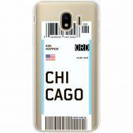 Силиконовый чехол BoxFace Samsung J400 Galaxy J4 2018 Ticket Chicago (35018-cc82)