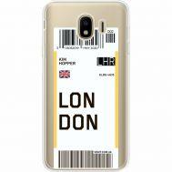 Силиконовый чехол BoxFace Samsung J400 Galaxy J4 2018 Ticket London (35018-cc83)