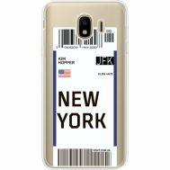 Силиконовый чехол BoxFace Samsung J400 Galaxy J4 2018 Ticket New York (35018-cc84)