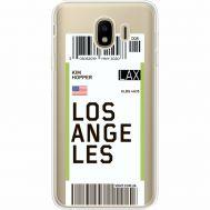 Силиконовый чехол BoxFace Samsung J400 Galaxy J4 2018 Ticket Los Angeles (35018-cc85)
