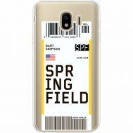 Силиконовый чехол BoxFace Samsung J400 Galaxy J4 2018 Ticket Springfield (35018-cc93)