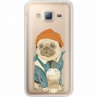 Силиконовый чехол BoxFace Samsung J320 Galaxy J3 Dog Coffeeman (35056-cc70)