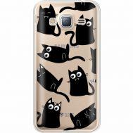 Силиконовый чехол BoxFace Samsung J320 Galaxy J3 с 3D-глазками Black Kitty (35056-cc73)