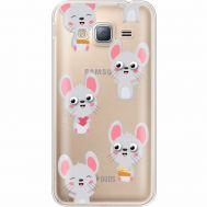 Силиконовый чехол BoxFace Samsung J320 Galaxy J3 с 3D-глазками Mouse (35056-cc76)