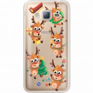 Силиконовый чехол BoxFace Samsung J320 Galaxy J3 с 3D-глазками Reindeer (35056-cc74)