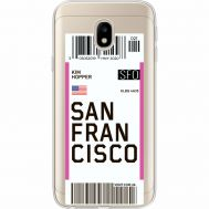 Силиконовый чехол BoxFace Samsung J330 Galaxy J3 2017 Ticket San Francisco (35057-cc79)