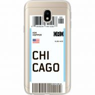 Силиконовый чехол BoxFace Samsung J330 Galaxy J3 2017 Ticket Chicago (35057-cc82)