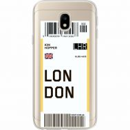 Силиконовый чехол BoxFace Samsung J330 Galaxy J3 2017 Ticket London (35057-cc83)