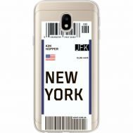 Силиконовый чехол BoxFace Samsung J330 Galaxy J3 2017 Ticket New York (35057-cc84)