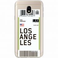 Силиконовый чехол BoxFace Samsung J330 Galaxy J3 2017 Ticket Los Angeles (35057-cc85)