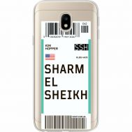 Силиконовый чехол BoxFace Samsung J330 Galaxy J3 2017 Ticket Sharmel Sheikh (35057-cc90)