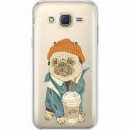Силиконовый чехол BoxFace Samsung J500H Galaxy J5 Dog Coffeeman (35058-cc70)