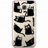 Силиконовый чехол BoxFace Samsung J500H Galaxy J5 с 3D-глазками Black Kitty (35058-cc73)