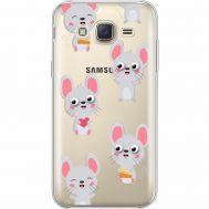 Силиконовый чехол BoxFace Samsung J500H Galaxy J5 с 3D-глазками Mouse (35058-cc76)