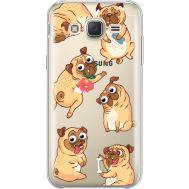 Силиконовый чехол BoxFace Samsung J500H Galaxy J5 с 3D-глазками Pug (35058-cc77)
