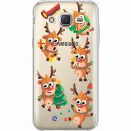 Силиконовый чехол BoxFace Samsung J500H Galaxy J5 с 3D-глазками Reindeer (35058-cc74)