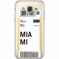 Силиконовый чехол BoxFace Samsung J500H Galaxy J5 Ticket Miami (35058-cc81)