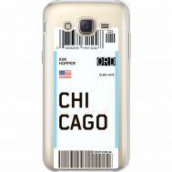 Силиконовый чехол BoxFace Samsung J500H Galaxy J5 Ticket Chicago (35058-cc82)
