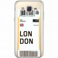 Силиконовый чехол BoxFace Samsung J500H Galaxy J5 Ticket London (35058-cc83)
