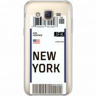 Силиконовый чехол BoxFace Samsung J500H Galaxy J5 Ticket New York (35058-cc84)