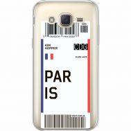 Силиконовый чехол BoxFace Samsung J500H Galaxy J5 Ticket Paris (35058-cc86)