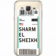 Силиконовый чехол BoxFace Samsung J500H Galaxy J5 Ticket Sharmel Sheikh (35058-cc90)