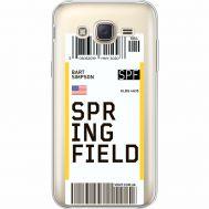 Силиконовый чехол BoxFace Samsung J500H Galaxy J5 Ticket Springfield (35058-cc93)