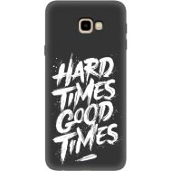 Силиконовый чехол BoxFace Samsung J415 Galaxy J4 Plus 2018 hard times good times (35598-bk72)