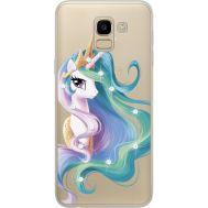 Силиконовый чехол BoxFace Samsung J600 Galaxy J6 2018 Unicorn Queen (934979-rs3)