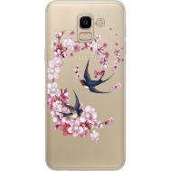 Силиконовый чехол BoxFace Samsung J600 Galaxy J6 2018 Swallows and Bloom (934979-rs4)