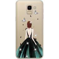 Силиконовый чехол BoxFace Samsung J600 Galaxy J6 2018 Girl in the green dress (934979-rs13)