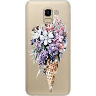 Силиконовый чехол BoxFace Samsung J600 Galaxy J6 2018 Ice Cream Flowers (934979-rs17)
