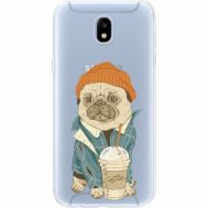 Силиконовый чехол BoxFace Samsung J530 Galaxy J5 2017 Dog Coffeeman (35019-cc70)
